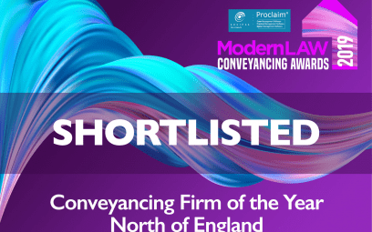 Delighted to be shortlisted for three awards in the Modern Law Conveyancing Awards 2019