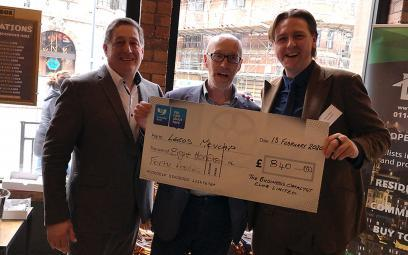Charity cheque donated to Leeds Mencap