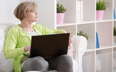 Elderly lady on laptop