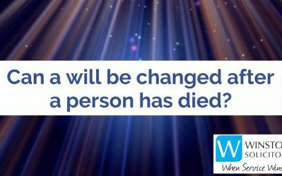 Embedded thumbnail for Can a will be changed after a person has died?